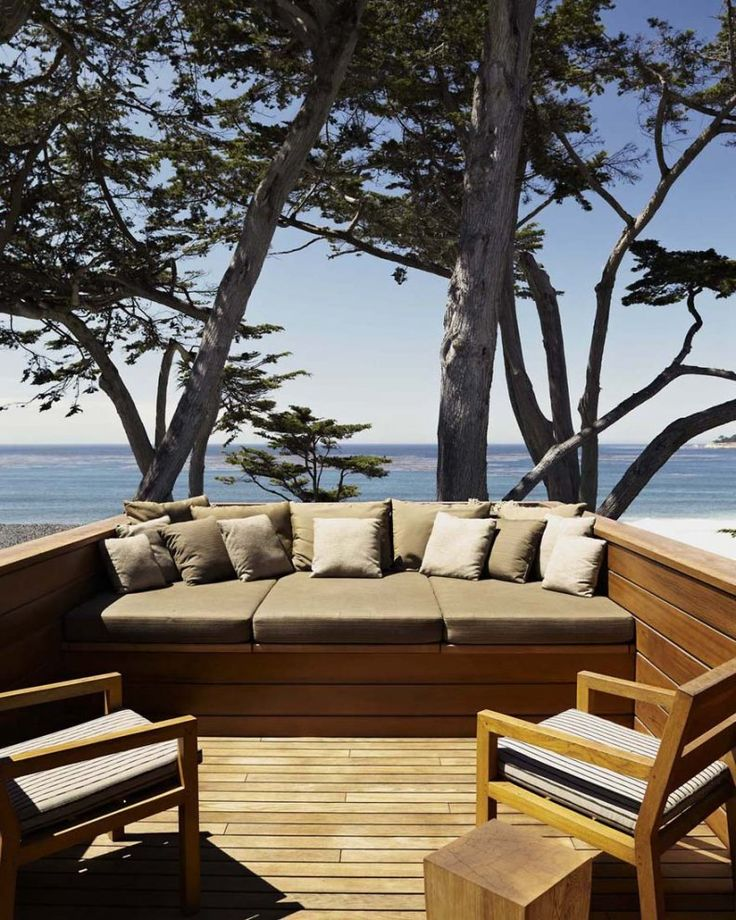 Carmel: Carmel Resident, Outdoor Living, Built In, Dirk Denison, Patio, House, Outdoor Spaces, Ocean View, Denison Architects