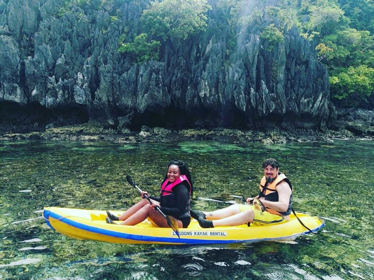 Kayaking at the small lagoon. #ElNido #Philippines