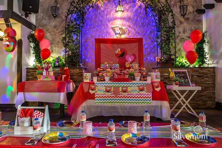 Incredible Sesame Street Elmo birthday party! See more party ideas at CatchMyParty.com!