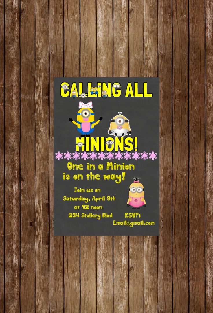 25 best baby shower images on Pinterest | Minion nursery, Birthdays ...