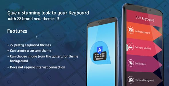 "Purchase the source code of ""Keyboard Themes"" for Android only in $18"