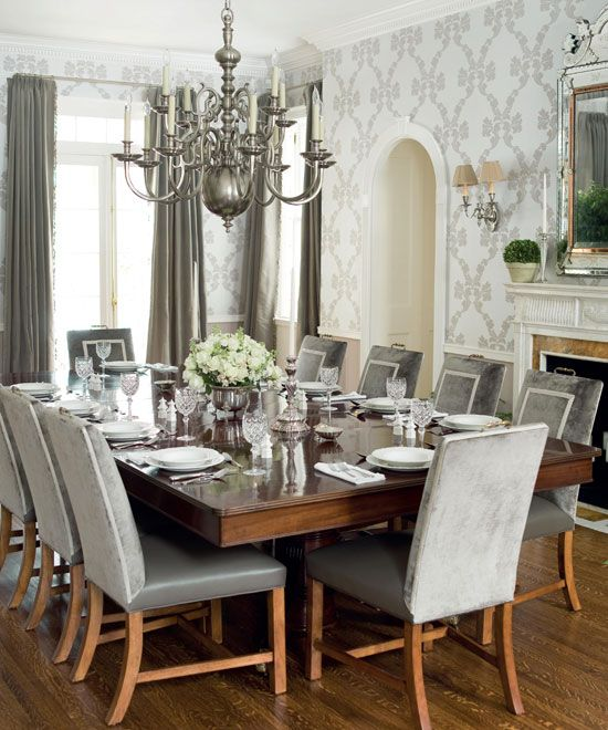 Formal Dining Room Grey