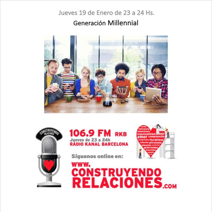 """Programa con Georgina Badenas, Noelia Gómez, Coni Muxi, Sergi Berlanga, Toni Duran y Alejandro Francisco, hablando sobre """"Generación Millennial""""."""