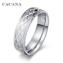 CACANA acier inoxydable anneaux pour les femmes brillant en acier inoxydable de…