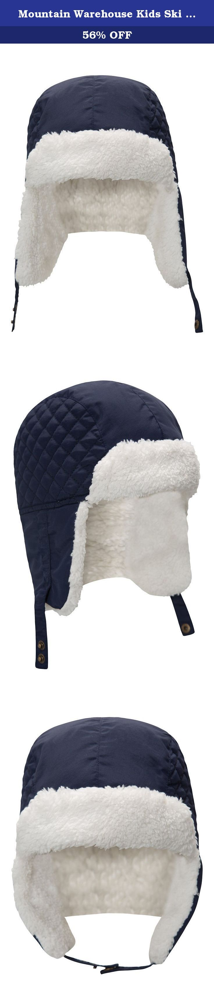 Mountain Warehouse Kids Ski Trapper Navy. The Kids Ski Trapper is a very warm and comfortable hat, ideal for skiing and everyday wear. With a faux fur lining and a longer back for extra protection, this hat is great for keeping the little one's head warm when out and about in the cold. Lining - With a faux fur lining for extra warmth and protection Composition - 100% Polyester Ear flaps - With ear flaps to keep ears protected and covered in the cold One size - One size to fit all Ref:...