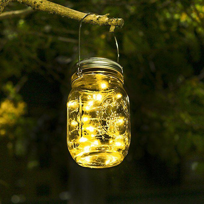 Led Weihnachtsbeleuchtung Warmweiss.Solar Mason Jar Licht Jar Fee Licht Wasserdichte Glasgläser