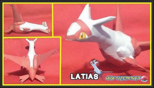Pokemon - Latias Ver.3 Free Papercraft Download - http://www.papercraftsquare.com/pokemon-latias-ver-3-free-papercraft-download.html