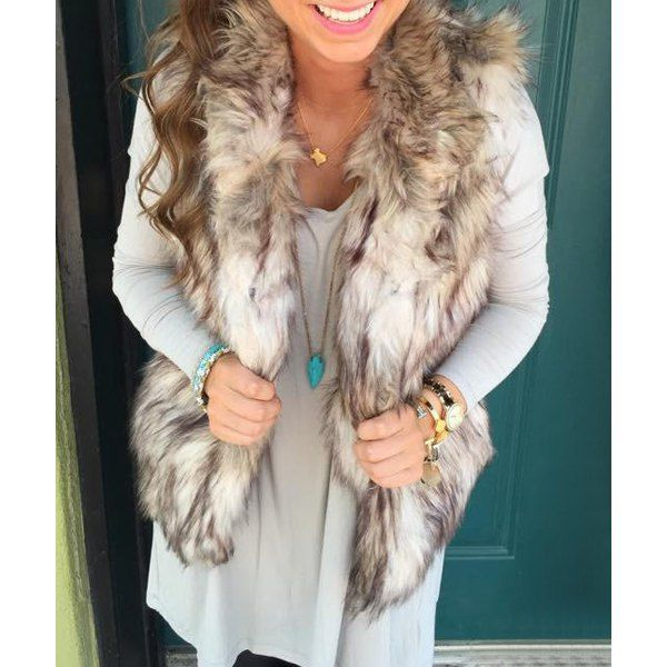 Trendy Stand Collar Faux Fur Waistcoat For Women