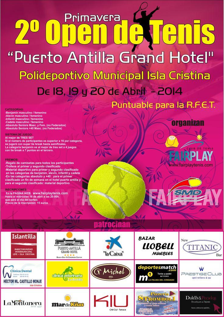II Open de Tenis Puerto Antilla Grand Hotel los días 18, 19, y 20 de Abri