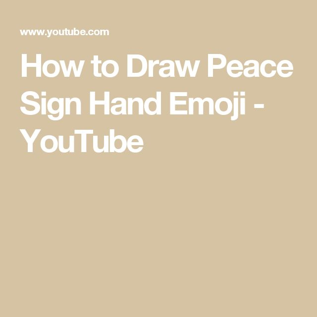 How to Draw Peace Sign Hand Emoji - YouTube