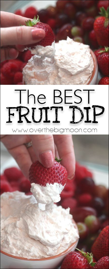 The BEST thick and creamy Fruit Dip! From www.overthebigmoon.com!