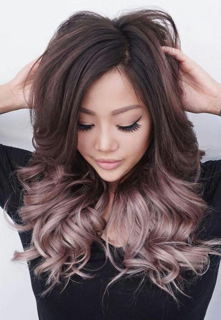 rose gold balayage ombre on brunette hair coloured hair pinterest haartrends haar ideen. Black Bedroom Furniture Sets. Home Design Ideas