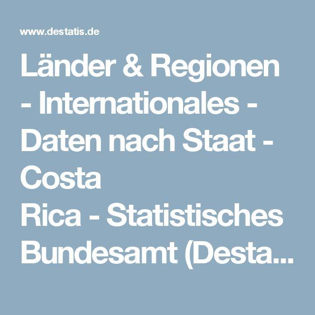 Länder & Regionen - Internationales - Daten nach Staat - Costa Rica-Statistisches Bundesamt (Destatis)