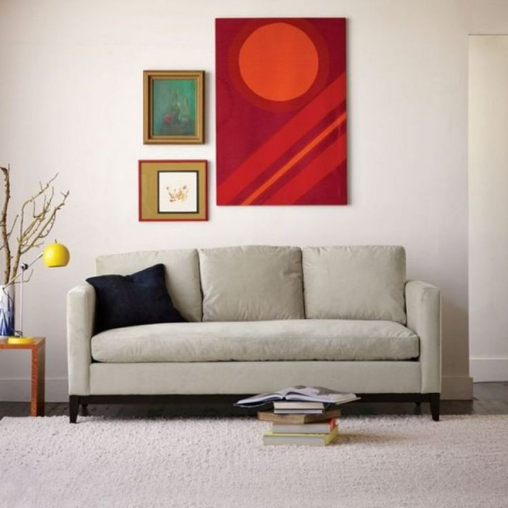 Living Room With Abstract Wall Arts And Sofa Tips To Replacing Sofa  Cushions Check More At