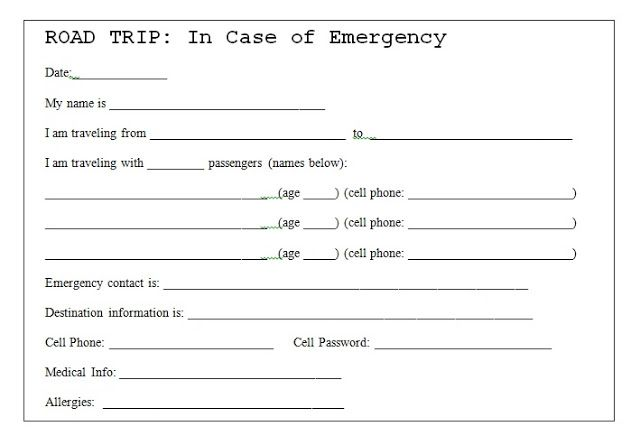 in case of emergency card template twpiratebay. Black Bedroom Furniture Sets. Home Design Ideas