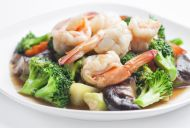 Chinese Stir Fried Prawns with Vegetables