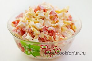 Салат с крабовым мясом (фото)