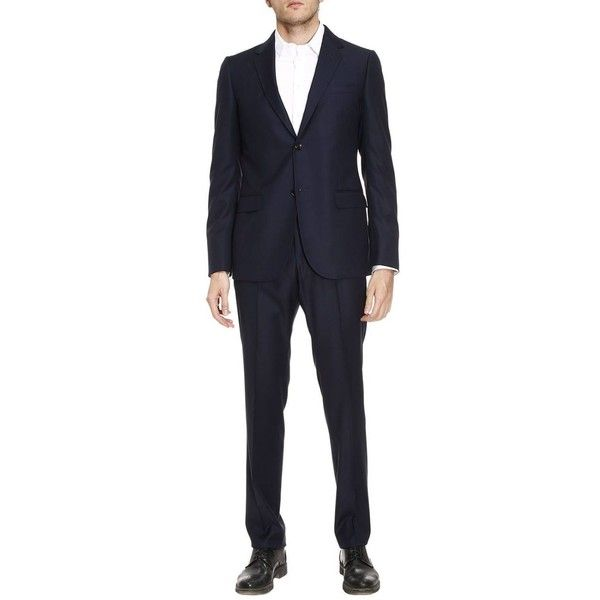 Suit Two Button Monaco Suit in Worsted Wool With 19 Bottom (6 515 PLN) ❤ liked on Polyvore featuring men's fashion, men's clothing, men's suits, menclothingsuits, navy, old navy mens clothing, mens navy suit, gucci mens clothing, gucci mens suits and mens navy blue suit