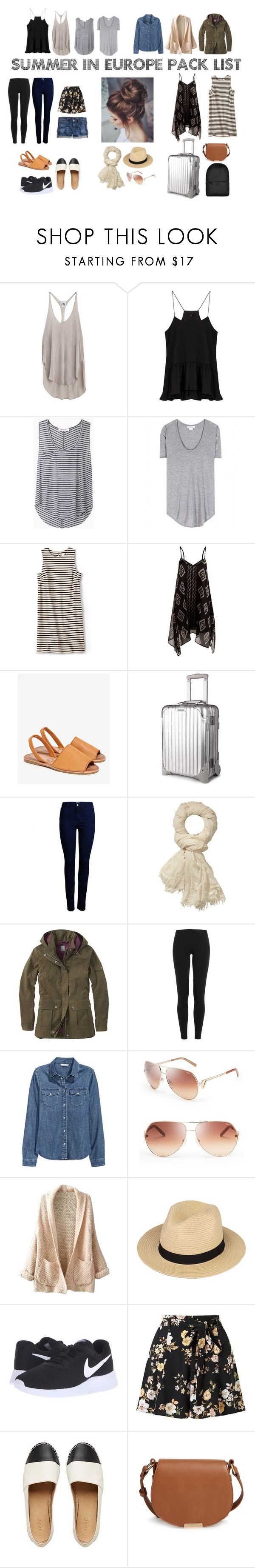 Summer in Europe pack list by singlecatlady on Polyvore featuring FOSSIL Billabong WithChic