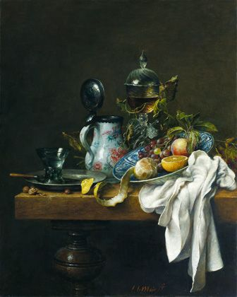 Stilleven met Chinese kan, oil on panel by Cornelius le Mair (Dutch), 2006