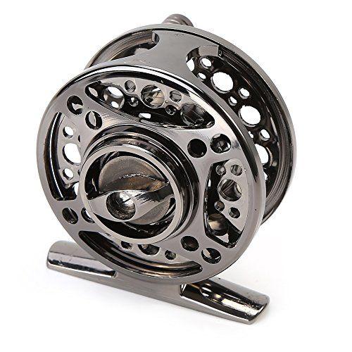 Comprar carrete de mosca Carrete de Pesca con Mosca Anti-corrosión Rodamiento de bolas Aleación de Aluminio para Pesca en Agua Salada 60mm 21 ( Color : Negro )
