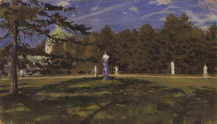 Oranienbaum, 1901 de Konstantin Somov (1869-1939, Russia)