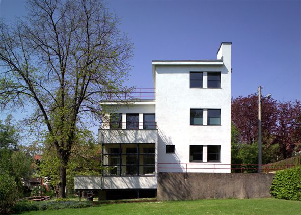 The Auerbach house, near Weimar, 1924 by Walter Gropius