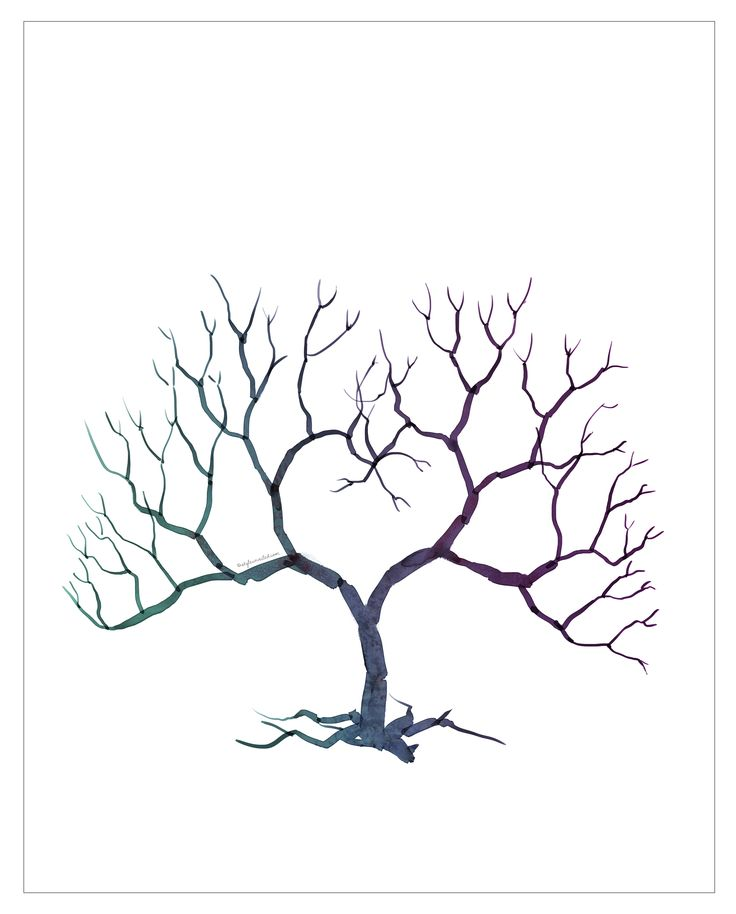 Fingerprint Tree template - tattoo idea with the kids fingerprints