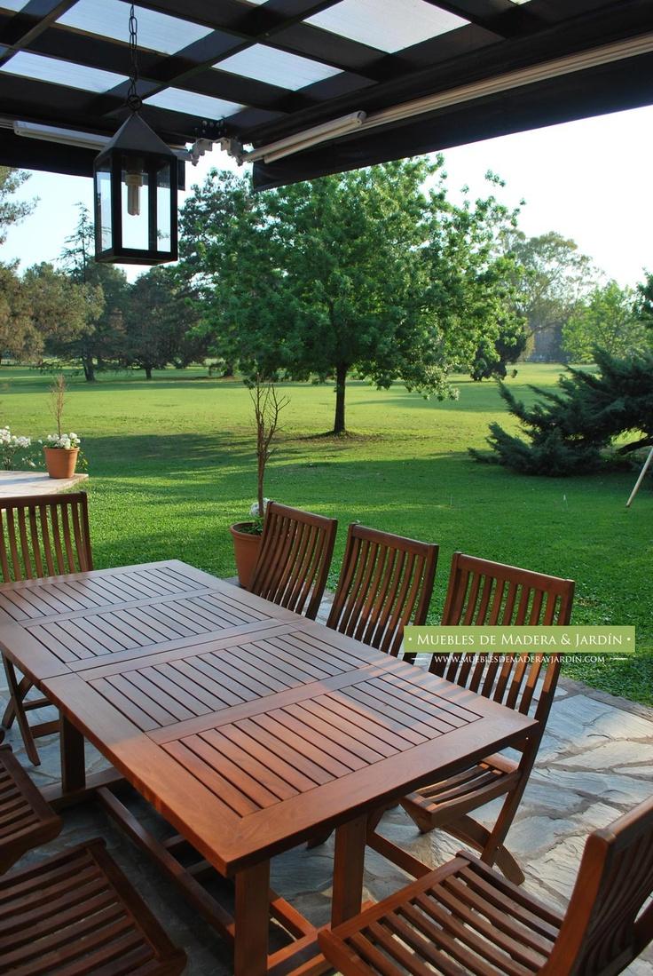 Tenemos mesas para tu jardin comedor o galeria hacemos a for Sillas de plastico para jardin