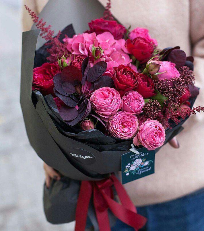 Ya Florist Rozovye Cvety Floristika Buket Cvetov