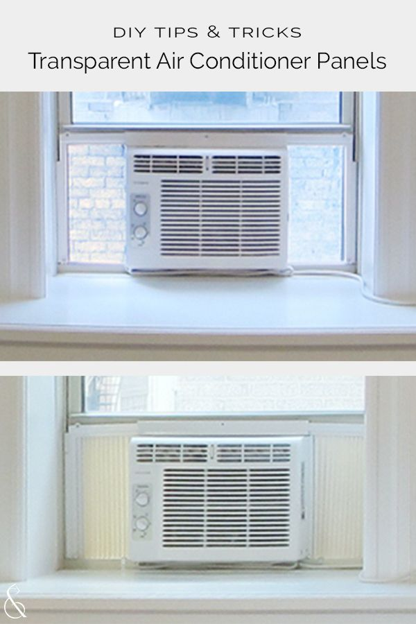 Transparent Air Conditioner Panels Diy Project Tips Tricks Diy Tutorial On How Window Air Conditioner Window Unit Air Conditioners Diy Air Conditioner