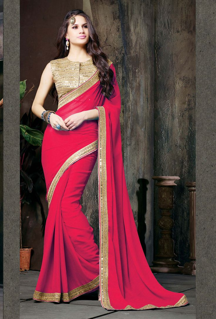 chiffon blouse styles red chiffon saree with blouse 61369 chiffon saree 5685