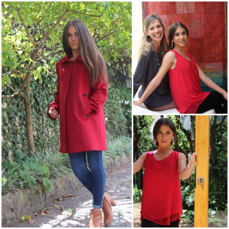 Red,rojo,rouge,@atelierelenaurrutia #rojo#abrigos#mama#hijas