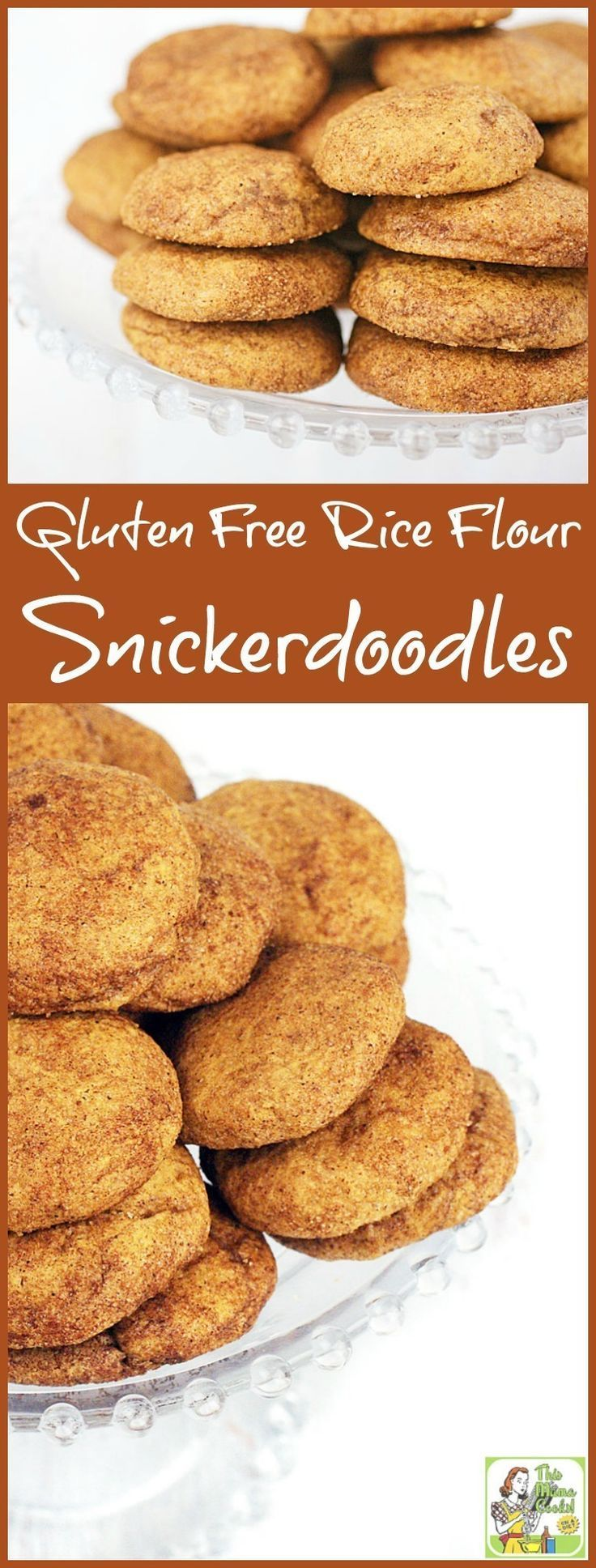 Looking for a gluten free cookie recipe? Try this easy to make Gluten Free Rice Flour Snickerdoodles cookie recipe. Perfect for cookie exchanges or homemade gifts.