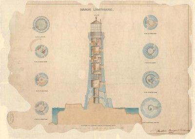 Lighthouse prints | Trinity House, Les Hanois