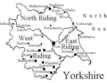 The Ridings. Sadly the 'Ridings' of Yorkshire don't exist anymore. They ditched them and replaced them with Yorkshire. The romance was lost.