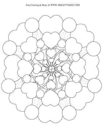 Heart Coloring Pages For Adults  Mandala
