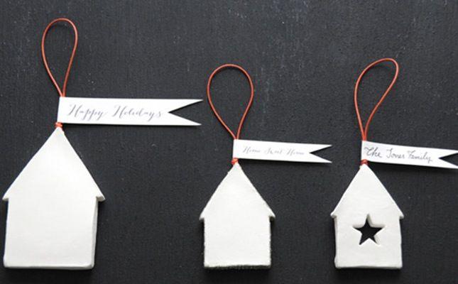 DIY Clay House Ornaments via Brit + Co.