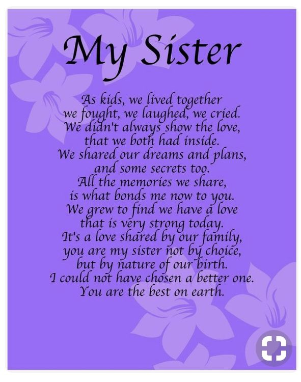 Pin By Esther On Prayer Sister Poems Birthday Sister Quotes