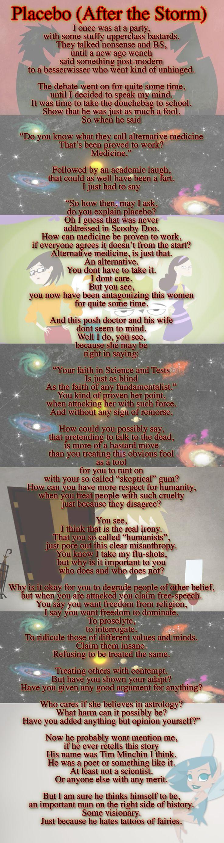 A poem parody of Tim Minchin´s poem Storm