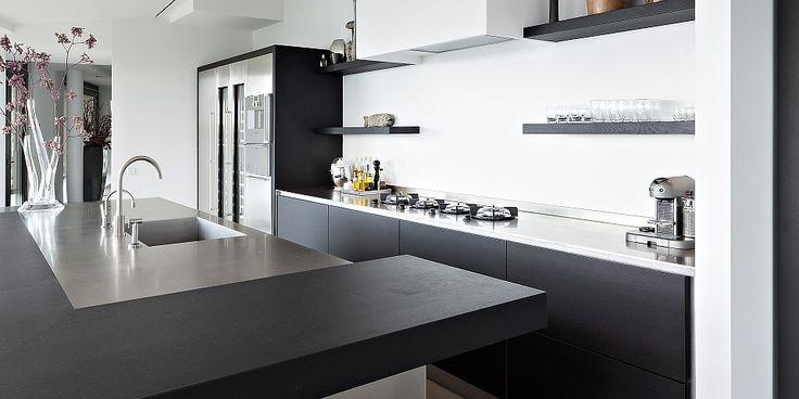 Hou je van een strakke keuken deze super moderne keuken is een pracht item het keukeneiland - Huisstijl amerikaanse ...
