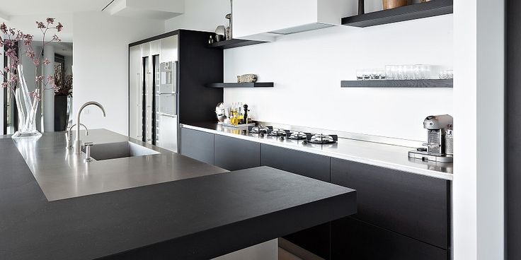 16 best images about keukens on pinterest minimalism gray and amsterdam for Kleine amerikaanse keuken met bar