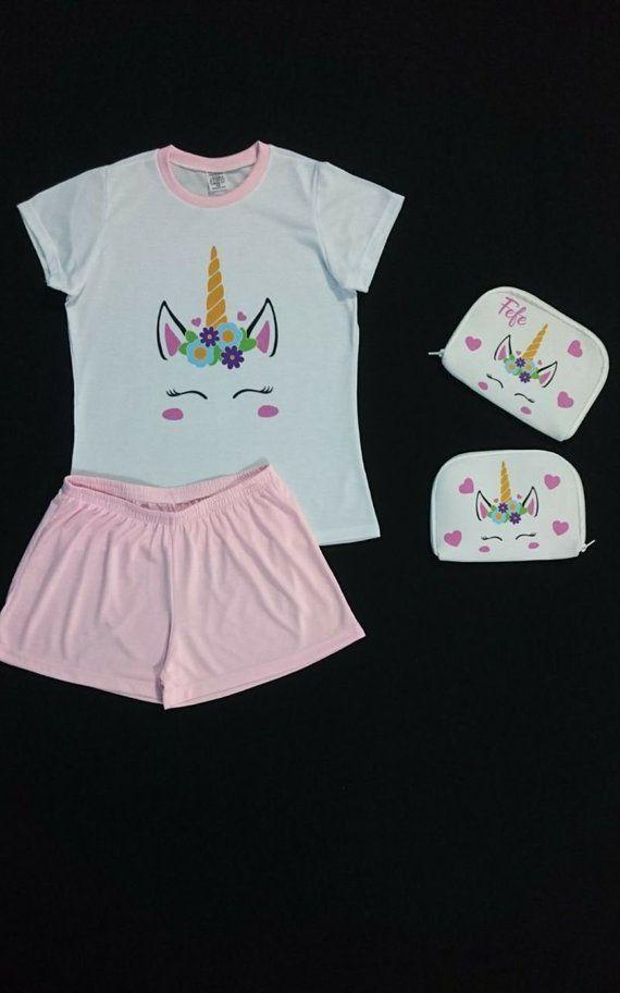 5 Personalized Pajama Party Kit Unicorn Personalized Slumber