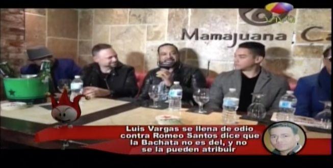 Luis Vargas Se Llena De Odio Con Romeo Santos Diciendo Que La Bachata No Es De El