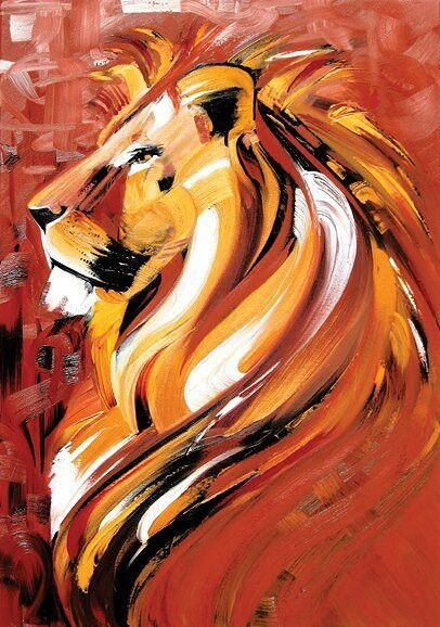 Les 25 meilleures id es de la cat gorie lion sur pinterest for Nice acrylic paintings