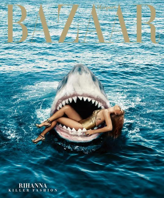 Jaws and also Rihanna star this new subscribers cover US Harper's Bazaar. Photo Norman Jean Roy.  Stylist @Melzy917