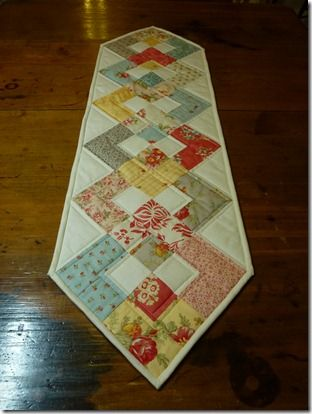 Table Runner for Scraps or Jelly Roll Left Overs