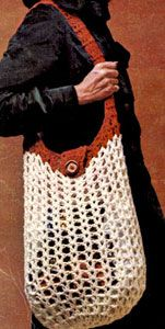 NEW! Shopping Bag crochet pattern from Things to Knit & Crochet, Leaflet 2576.