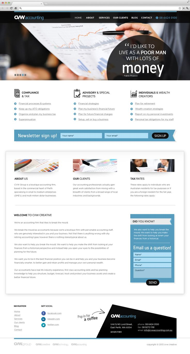 CVW Accounting - Website Design