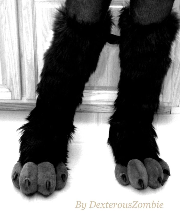 """A quick pic of the """"new FeetPaw model"""" The photo is black and white, so its still a surprise of the colors Ive chosen for Elim Artistic Wolf-Shark Partial. FeetPaws are built on shoes for comfort. ..."""